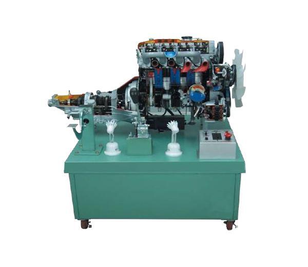 DLQC-D0019 4 cylindres Diesel Engine Dissecting Démontrer la plate-forme